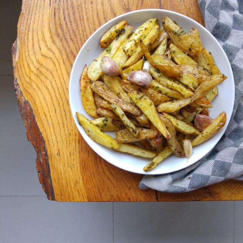 vastkokende aardappelen frieten