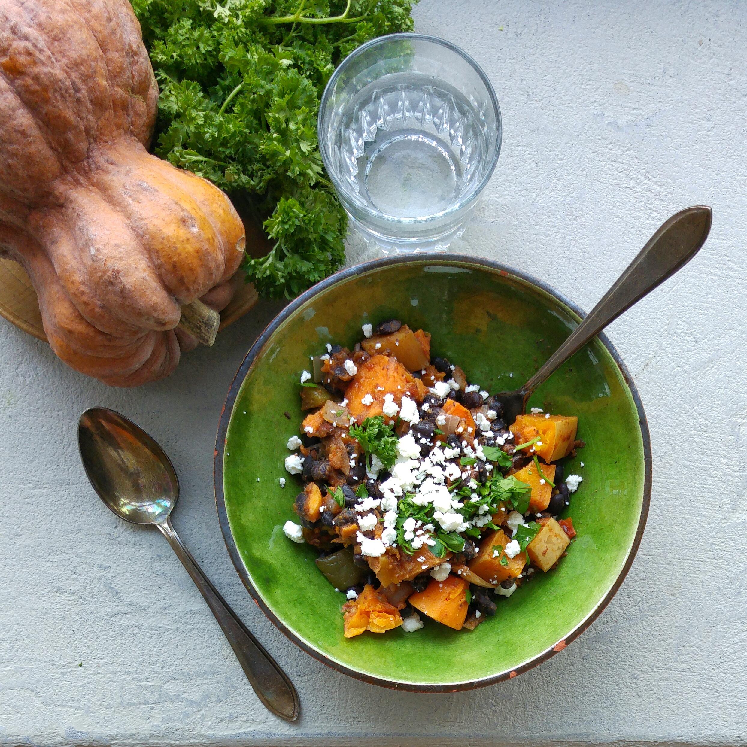 Gezonde, gemakkelijke en goedkope maaltijd met seizoensgroenten