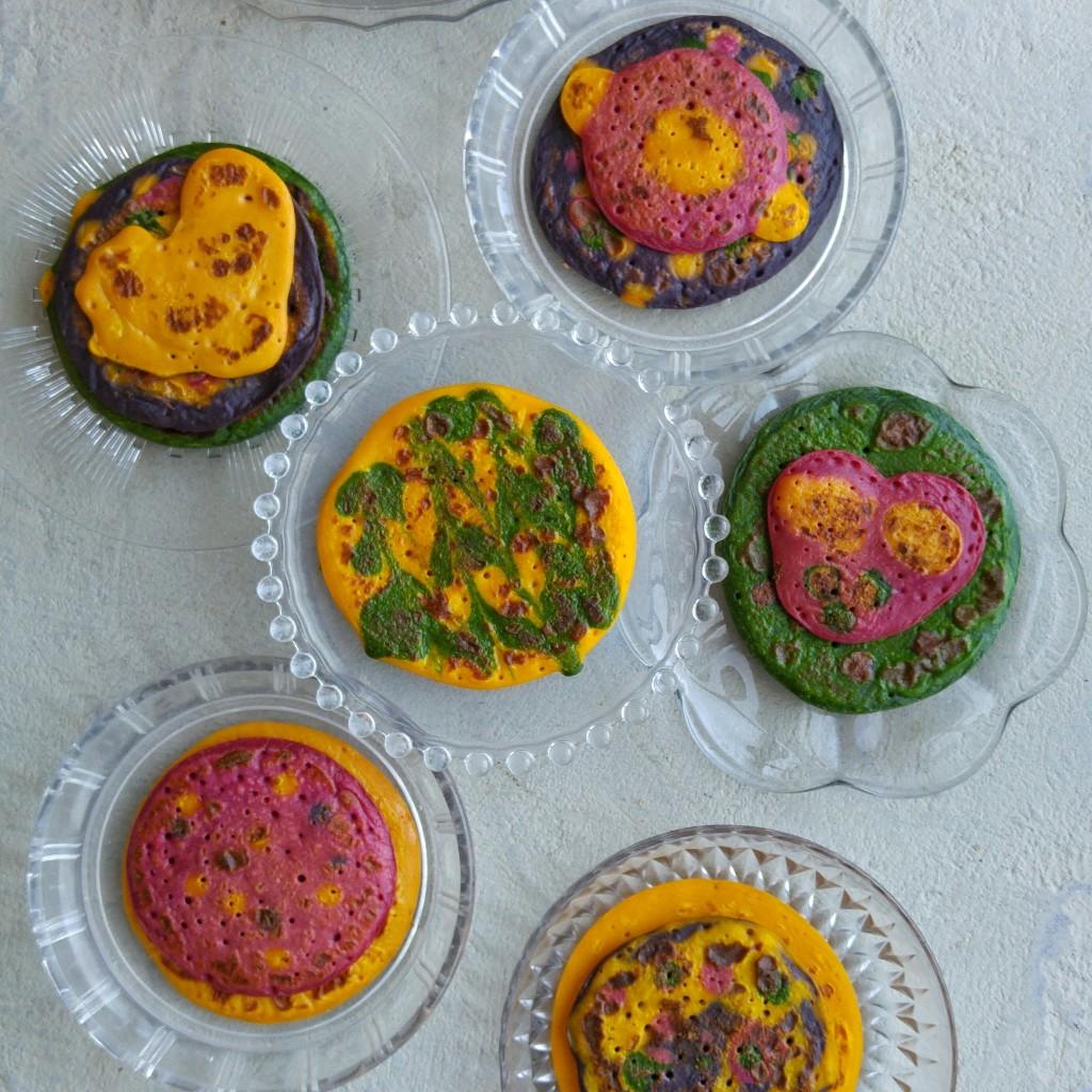 gekleurde-pannekoeken
