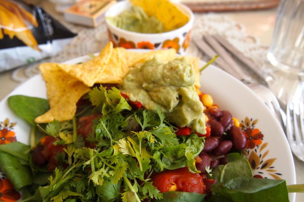 chili-sin-carne-groente-wraps