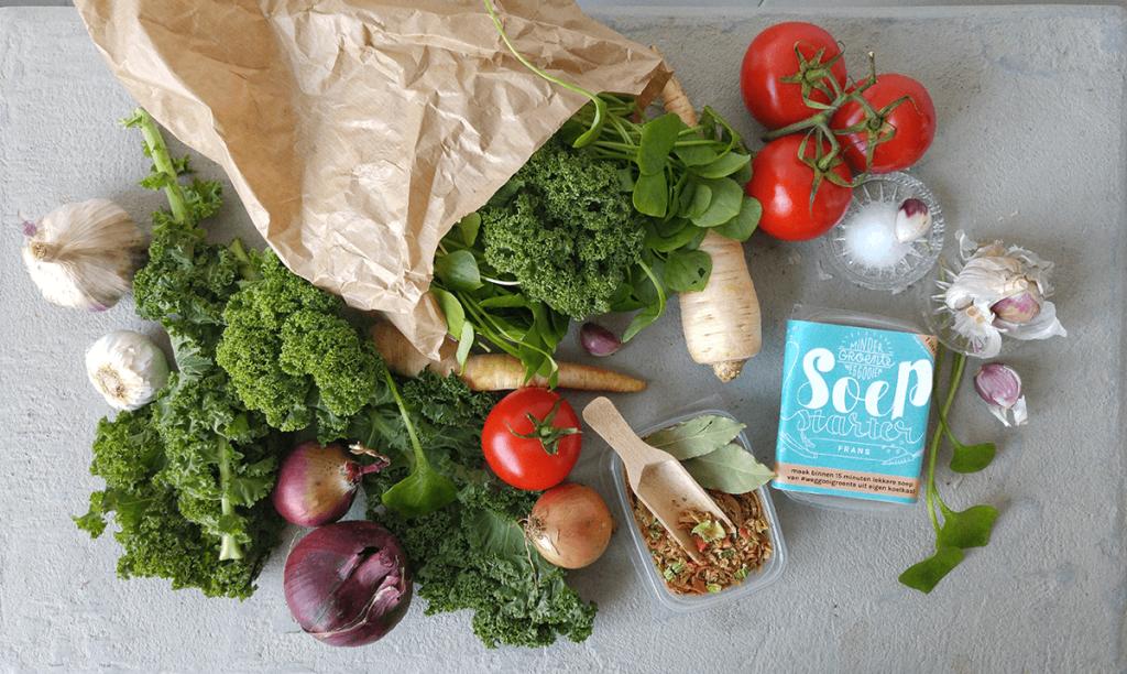 vecht mee tegen voedselverspilling; maak snelle soep van groenten die je anders weg zou gooien