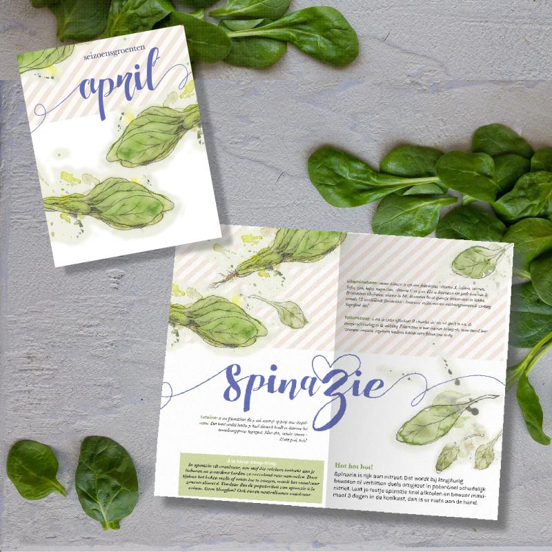 seizoensgroenten kalender april: alle seizoensgroenten in een handig spiekbriefje, plus slimme spinazieweetjes én een soeprecept met spinazie - in vier variaties.