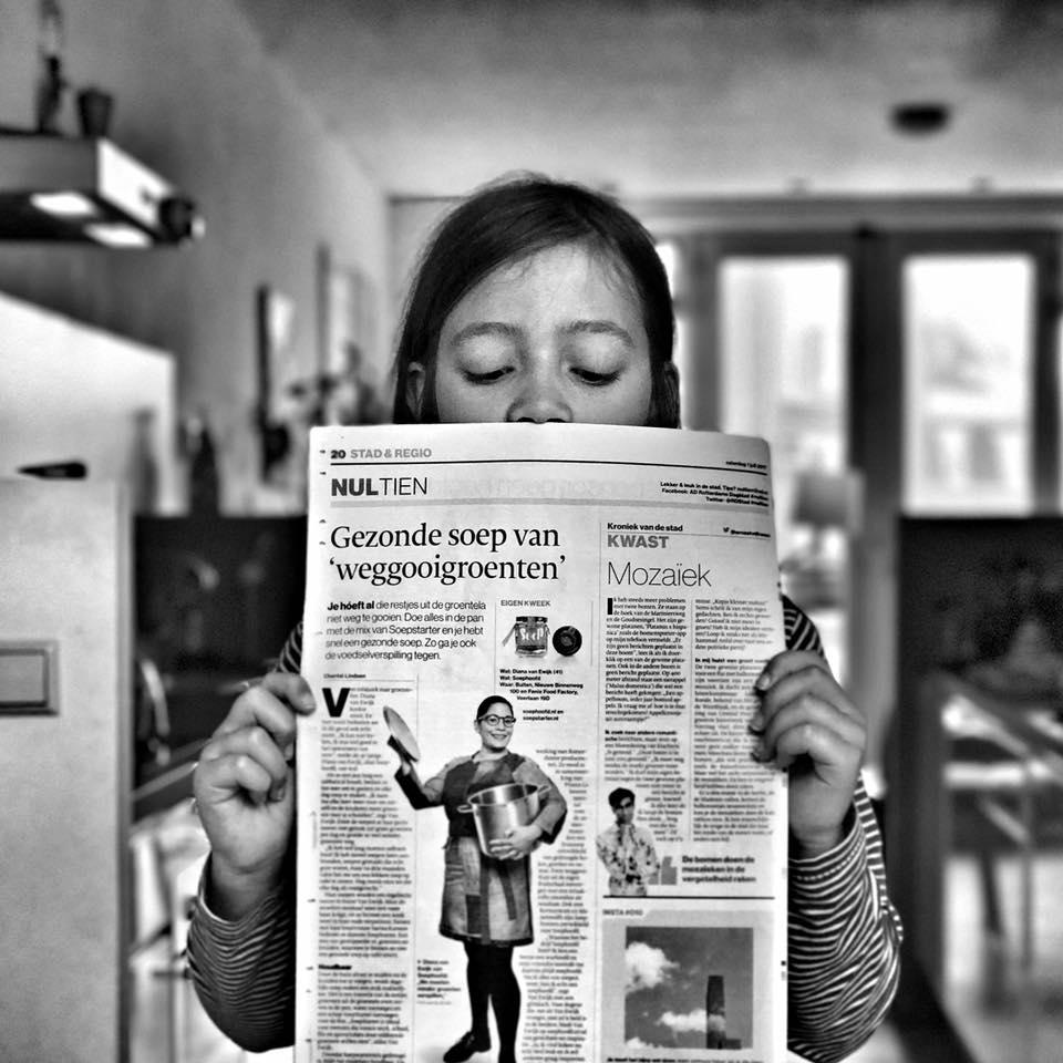 Algemeen Dagblad Rotterdam met interview soephoofd
